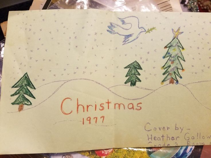 My first published art work. Christmas program cover.