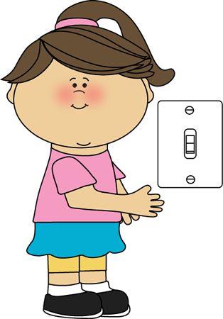 school door clipart. Girl Classroom Lights Job Clip Art - Vector Image School Door Clipart