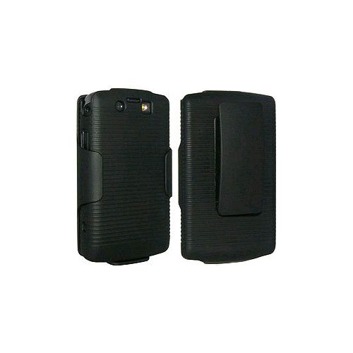 OEM Verizon BlackBerry 9550 Storm 2 Leather Holster Combo - Black (Bulk Packaging)