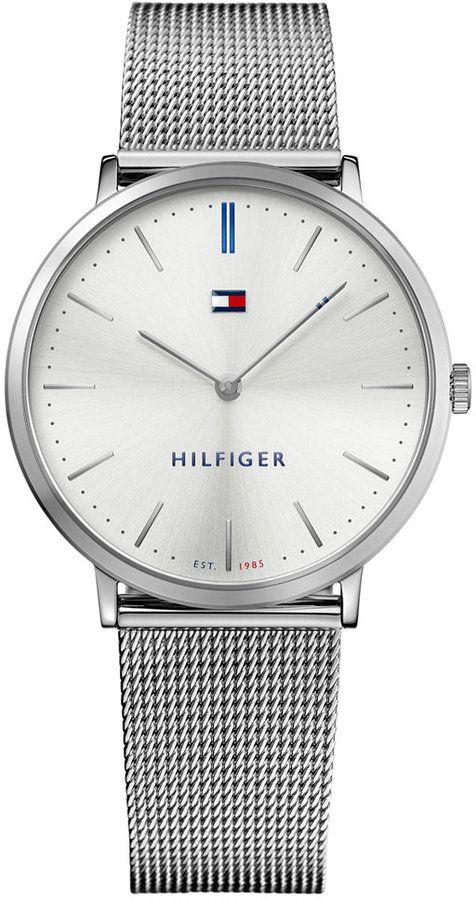 Tommy Hilfiger Men's Slim Sophisticated Sport Stainless Steel Mesh Bracelet Watch 40mm 1781690