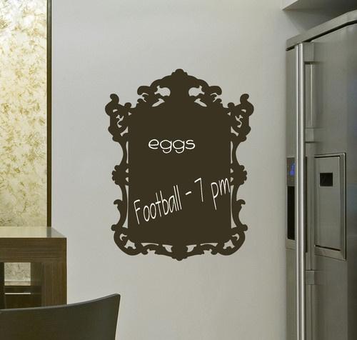 Chalk Board Frame Baroque Wall Vinyl Decal Transfer Custom | eBay