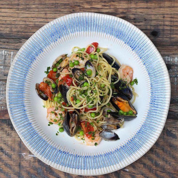 New for May @gennarocontaldo Tuesday special at @jamiesitalianuk- seafood spaghetti just £7.50 every Tuesday! head on down guys