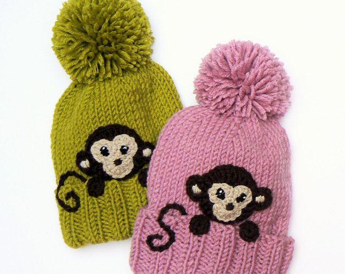 b2639284331391 Bear hat, Kids Winter Hat, Beanie Hat, Knit Hat, Pom Pom Hat ...