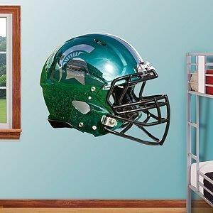 Spartan Chrome Style Football Helmet Fathead Wall Graphic. Football HelmetsRoom  Decor