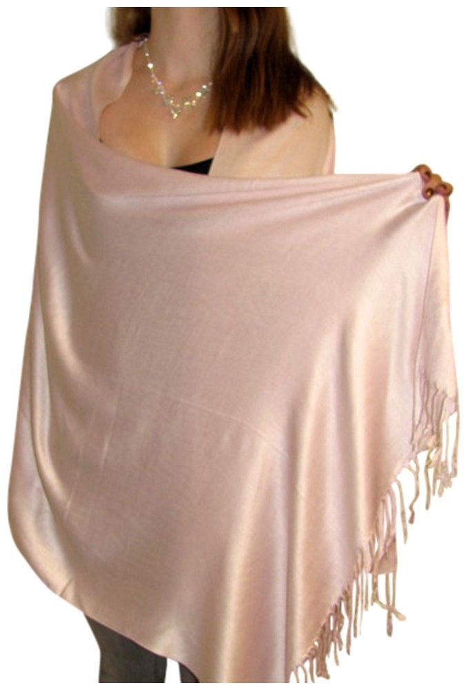 light pink evening prom bridesmaids shawl wrap a silken pashmina fashionable shawl for your dresses and gowns