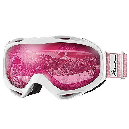 Ski Goggles 100% UV Protection Snow Snowboard Cycling Sunglasses Glasses Pink #OutdoorMaster