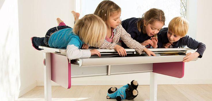 Höhenverstellbarer Schreibtisch für Kinder Champion von moll