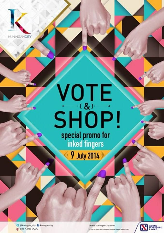 Kuningan City: Vote & Shop, Special Promo For Inked Finger @Kuningan_City