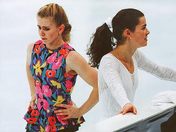 Nancy Kerrigan, the United States' best female figure skater and one of the goldmedal favorites for the 1994 Olympics, was attacked after practice today by an unidentified man who struck her on the right knee with a blunt object and escaped. Tonya Harding, Nancy's competitor, pleaded guilty to conspiring to hinder prosecution in the attack of Kerrigan. This showed how the 1990s was a very competitive decade for sports and people would do anything to get ahead.