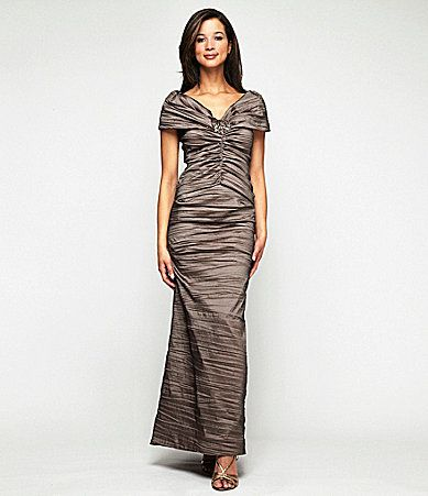 Mother of the bride dress alex evenings ruched mock 2piece for Dillards wedding dresses mother of the bride