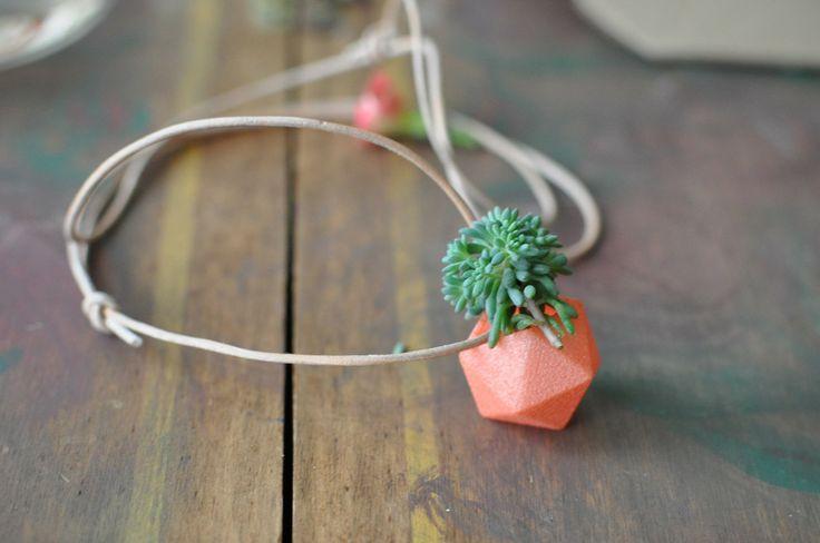 Miniature Icosahedron: A Wearable Planter