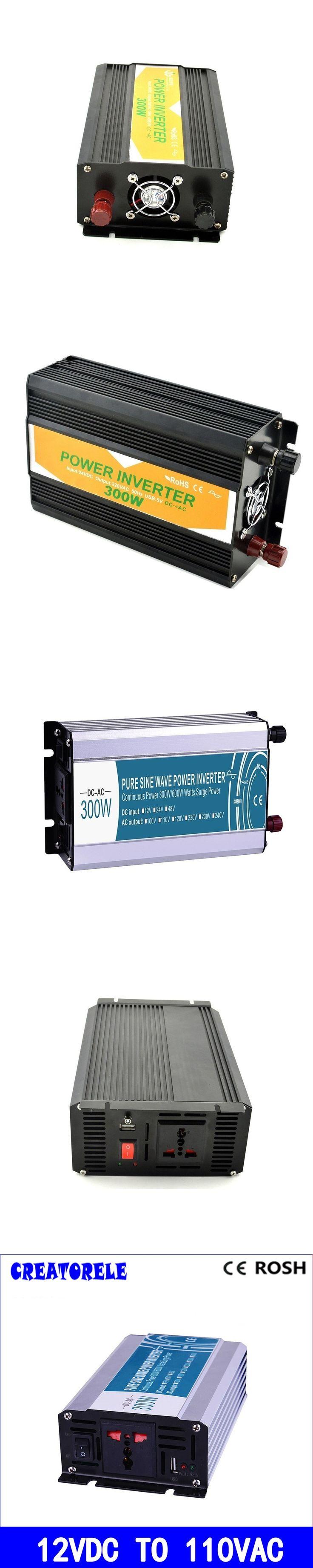 300W 12v dc to 110v ac  pure sine Wave inverter voltage converter  solar inverter electric powerr inversor P300-121