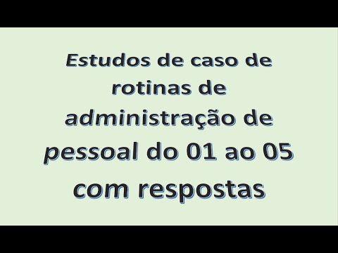 Estudos de caso de 01 a 05 Para quem não assistiu ainda. #administraçãodepessoal #departamentopessoal