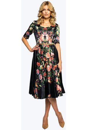 Kobieta Sukienki z nadrukiem - Sukienka zwiewna w kwiatowy print Arla