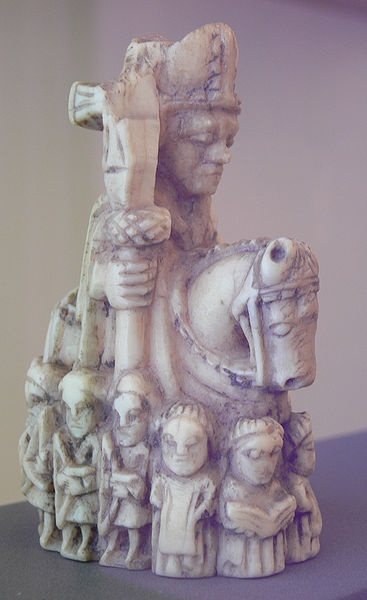 A Knight piece from a twelfth century chess set.