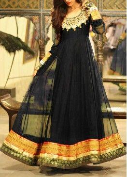 Black and Gold Designer Anarkali