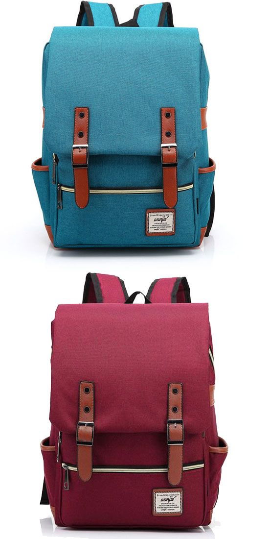 Vintage Canvas Travel Backpck Leisure Backpack&Schoolbag for big sale !   Which color do you like for this backpack?#backpack #college #school #bag #rucksack #cute #girl #student