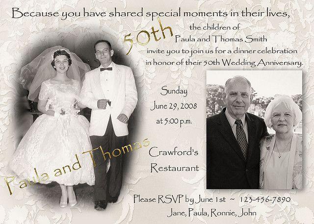 50th Wedding Anniversary Invitations With Photos: 17 Best Ideas About 50th Anniversary Invitations On