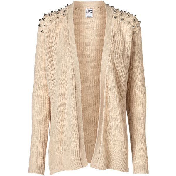 Vero Moda Funky Ls Cardigan ($46) ❤ liked on Polyvore featuring tops, cardigans, jackets, outerwear, sweaters, oatmeal, short cardigan, vero moda, short tops and beige cardigan
