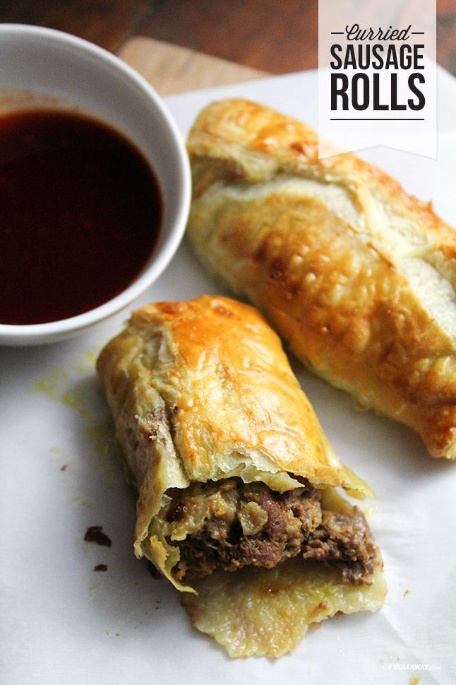 Curried Sausage Buns.....frozen puff pastry stuffed with seasoned ground beef