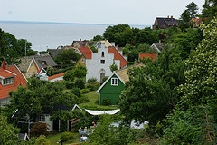 Arild, Skåne, Sweden. The little church dates to the 1300s.