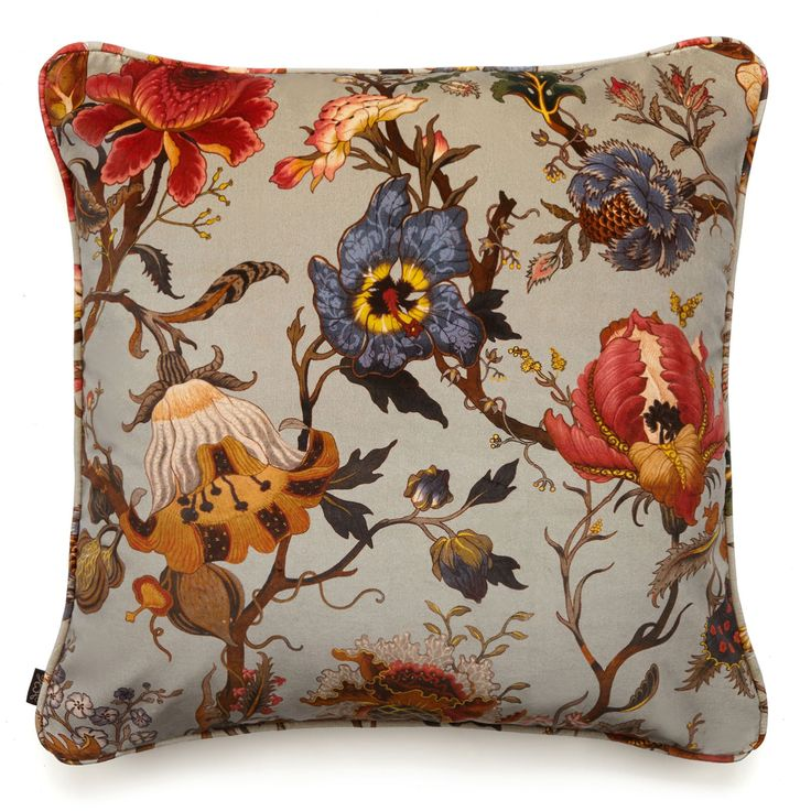 Luxury British velvet cushion featuring the House of Hackney x William Morris ARTEMIS print.<br /><br />Designed by the HoH team, this print pays homa...