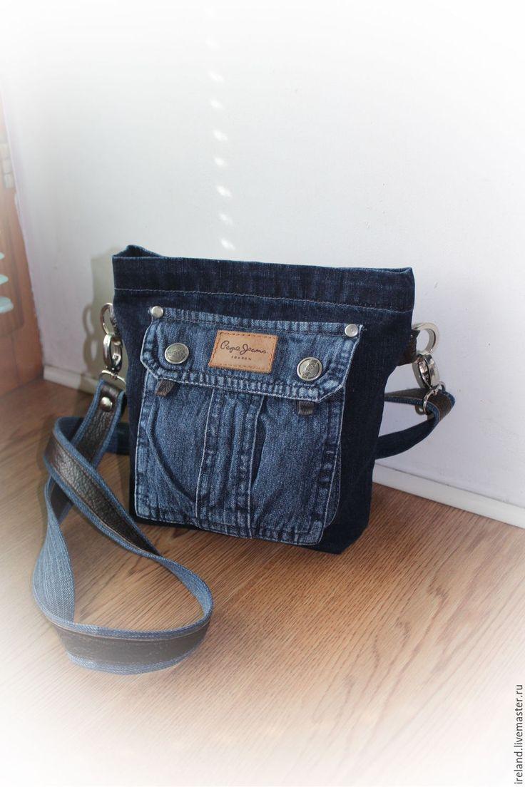 схема пошива джинсовой сумки