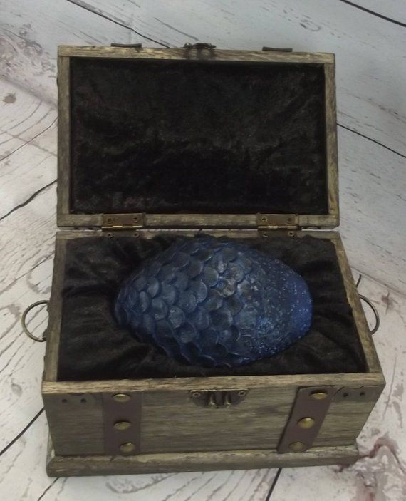 Large Size Game Of Thrones Inspired Dragon Eggs Set w//Chest