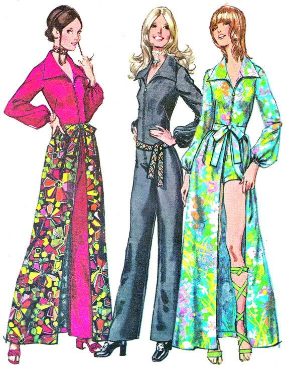 25f7882696c 1970s Womens Jumpsuit Pattern Simplicity 9674 Front Zip Jumpsuit Romper and  Overskirt Womens Vintage Sewing Pattern Bust 34