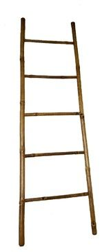 "Bamboo Ladder Rack 7' H, Handcrafted with Solid Bamboo, 20""W x 84""H asian-towel-bars-and-hooks"