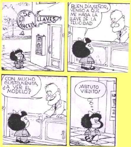 Mafalda: felicidad: Mafalda, Funny, The Key, Of The, Humor, Phrases, Happiness, Photo, Key