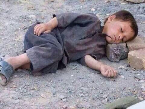 Syrian child away from home