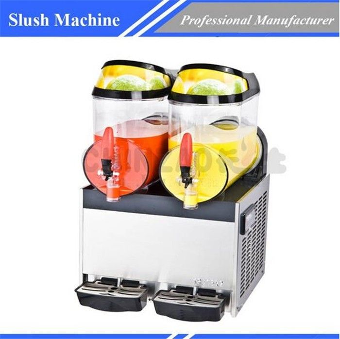 Commercial 12L x 2 tanks frozen Drink Slush Slushy Machine for juice beverage