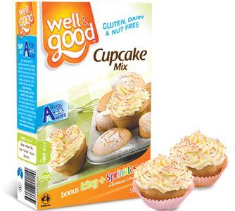 Well and Good Gluten Free Cupcake Mix. #wellandgood