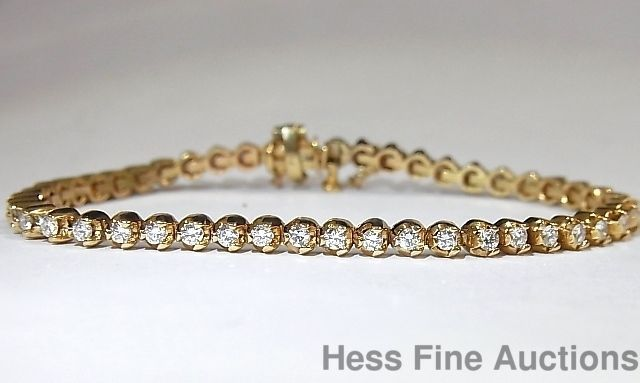 14K Gold Ultra Fine Quality Diamond Ladies Tennis Bracelet 2.00 carats  #Tennis