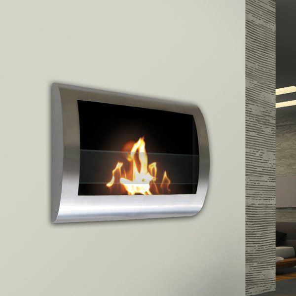Crafton Wall Mounted Bio Ethanol Fireplace Allmodern