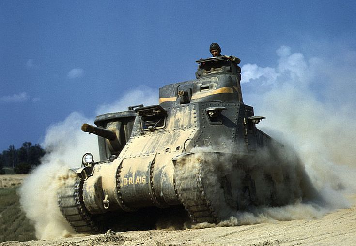 """The Medium Tank M3 was an American tank used during World War II. In Britain the tank was called by two names based on the turret configuration. Tanks employing US pattern turrets were called the """"General Lee"""", named after Confederate General Robert E. Lee. Variants using British pattern turrets were known as """"General Grant"""", named after U.S. General Ulysses S. Grant.  Design commenced in July 1940, and the first M3s were operational in late 1941."""