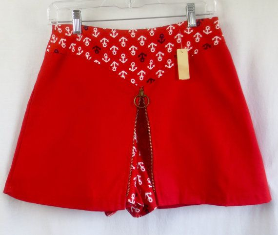 DEADSTOCK Vintage 1960'S Ruby Red Nautical by delilahsdeluxe