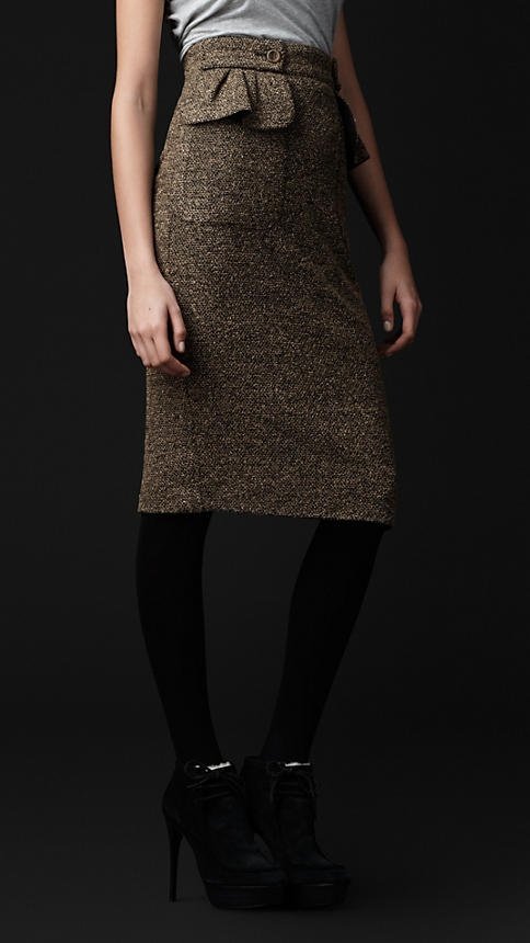 Burberry - Tweed Jersey Peplum Pocket Skirt. WHY YOU SO EXPENSIVE????!