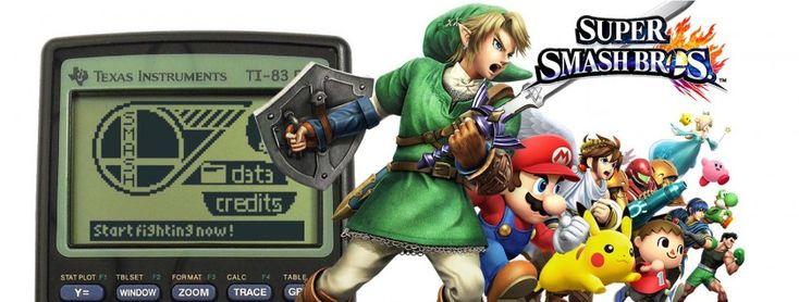 Jouer à Super Smash Bros sur sa calculatrice Ti 83/84 http://www.geeksandcom.com/2014/11/17/jouer-super-smash-bros-calculatrice-ti-8384/ #SuperSmashBros #SmashBros