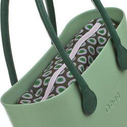 Canvas Inner Bag - Green Pattern - O bag Accessory by Fullspot