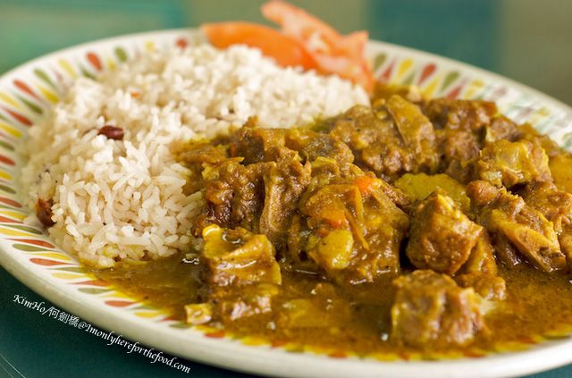 Jamaican Food Curry Goat curry goat & white...