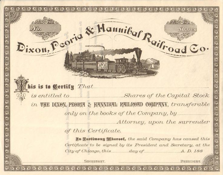 95 best Original Stock Certificates images on Pinterest Bond - company share certificates