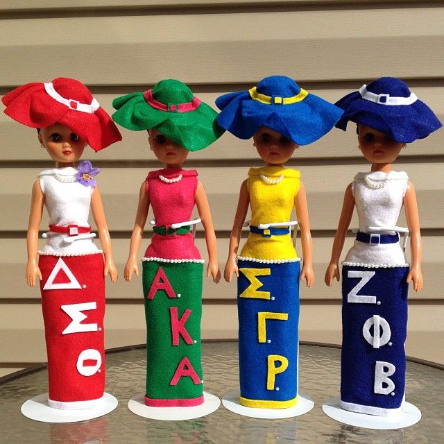 Divine Nine sorority dolls #NPHC - I want one with my letters!
