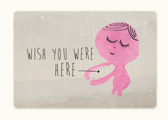 Wish you were here hug card Cards for friends Miss you