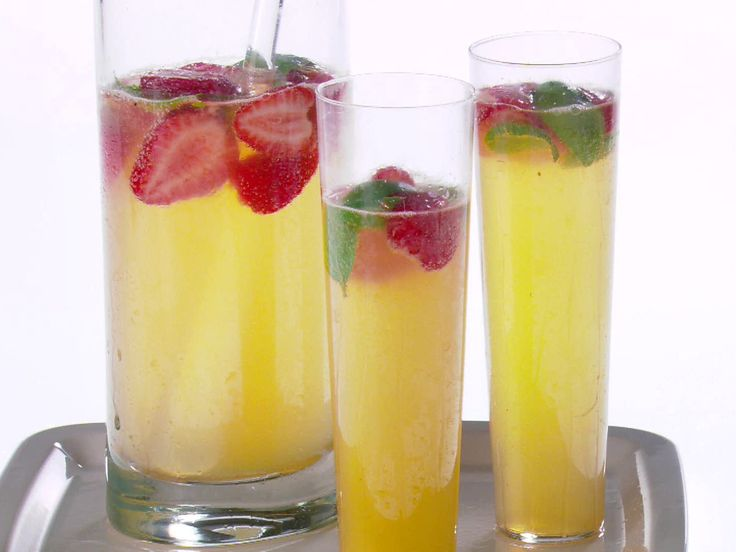 Strawberry, Lemon and Basil Mimosa Recipe : Giada De Laurentiis : Food Network - FoodNetwork.com