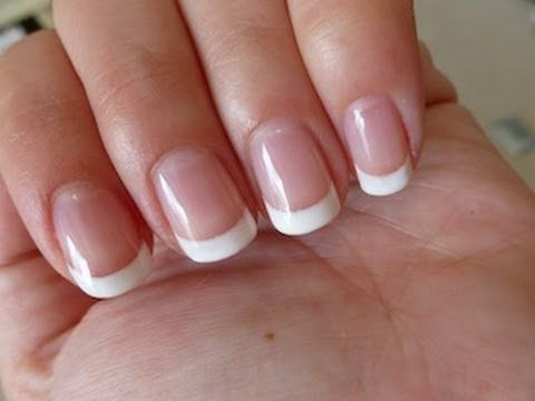 AWESOME How to get the perfect gel french manicure yourself nails Sally Hansen