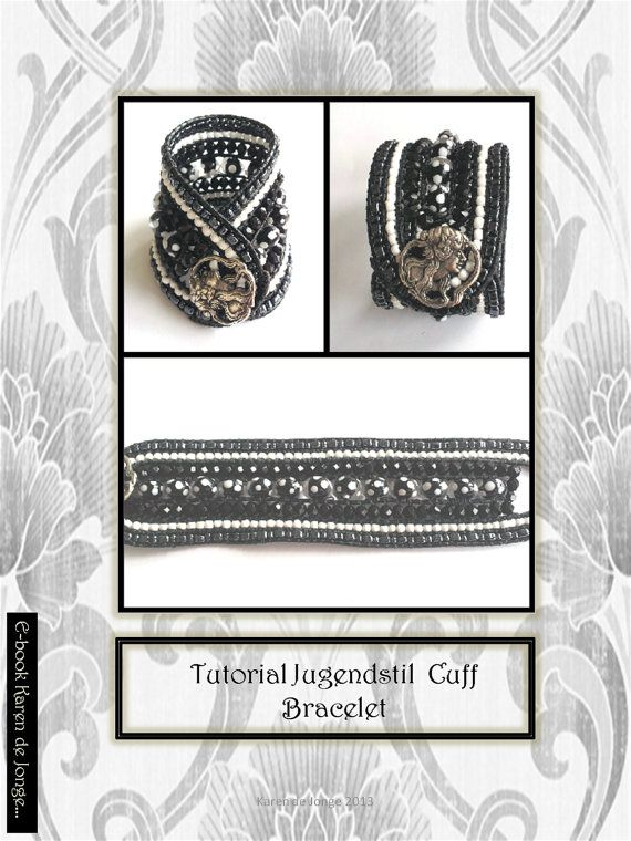 Winter offer 7 Strand Leather Cuff Bracelet Tutorial by Beadsagogo, $7.50