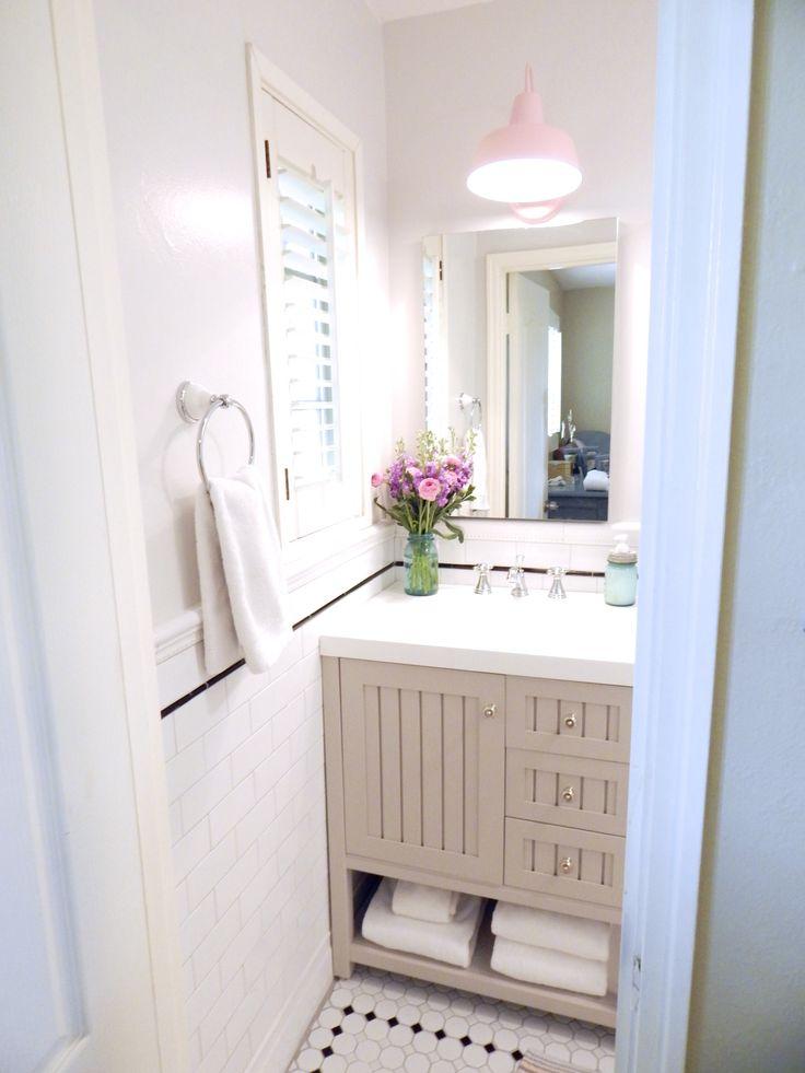 Martha Stewart Seal Harbor Vanity - Our tiny bathroom remodel - Loveandspecs.com