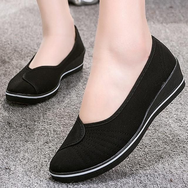 Non-slip Flats shoes women Big size 4-9